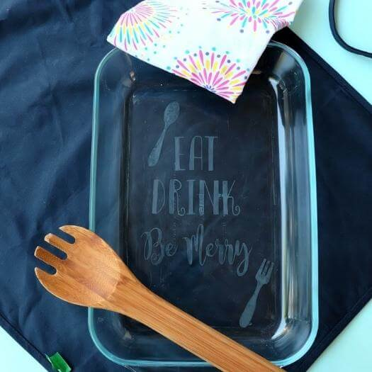 Etched Glass Dish Personalized Mothers Day DIY Homemade Crafting Gift Ideas Inspiration How To Make Tutorials Recipes Gifts To Make
