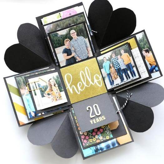 Explosion Box Personalized Mothers Day DIY Homemade Crafting Gift Ideas Inspiration How To Make Tutorials Recipes Gifts To Make