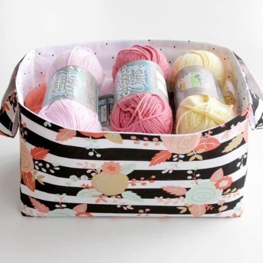 Fabric Basket Personalized Mothers Day DIY Homemade Crafting Gift Ideas Inspiration How To Make Tutorials Recipes Gifts To Make