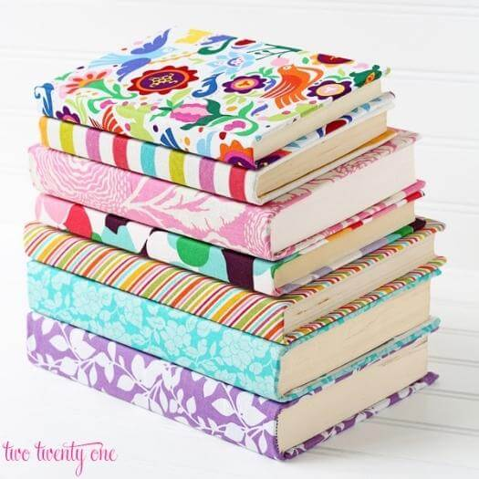 Fabric Covered Books Best Friend Mothers Day DIY Homemade Crafting Gift Ideas Inspiration How To Make Tutorials Recipes Gifts To Make