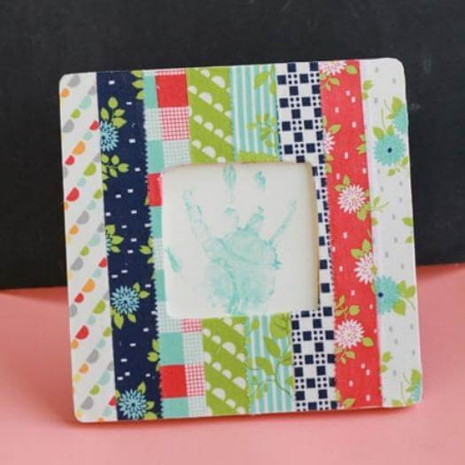 Fabric Covered Picture Frame Cheap Affordable Mothers Day DIY Homemade Crafting Gift Ideas Inspiration How To Make Tutorials Recipes Gifts To Make