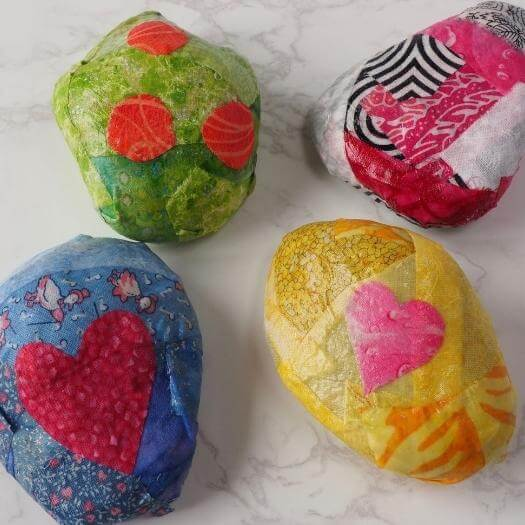 Fabric Découpage Paperweight Grandma Mothers Day DIY Homemade Crafting Gift Ideas Inspiration How To Make Tutorials Recipes Gifts To Make