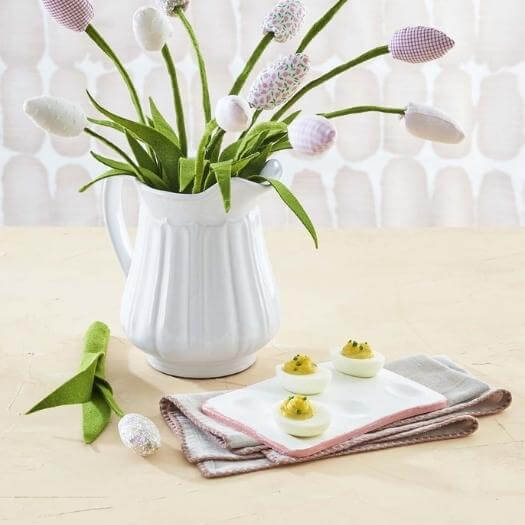 Fabric Tulips Best Friend Mothers Day DIY Homemade Crafting Gift Ideas Inspiration How To Make Tutorials Recipes Gifts To Make