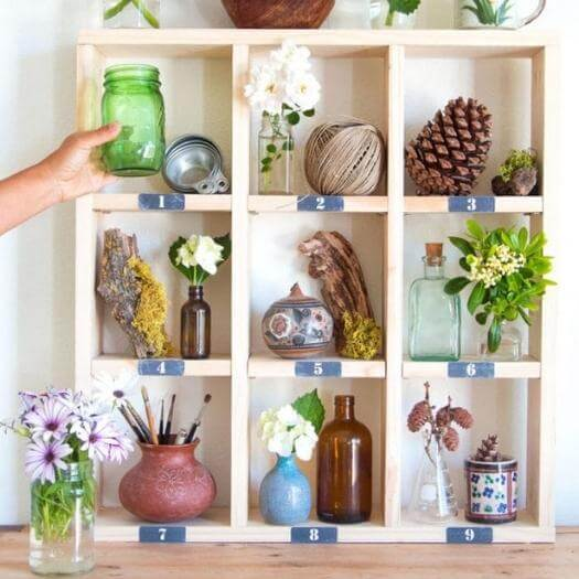 Farmhouse Cubby Shelf Unique Mothers Day DIY Homemade Crafting Gift Ideas Inspiration How To Make Tutorials Recipes Gifts To Make
