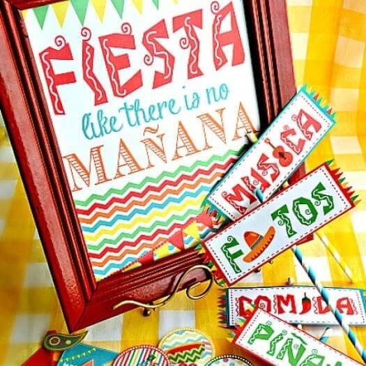 Fiesta Party Kit Mexican Mothers Day DIY Homemade Crafting Gift Ideas Inspiration How To Make Tutorials Recipes Gifts To Make