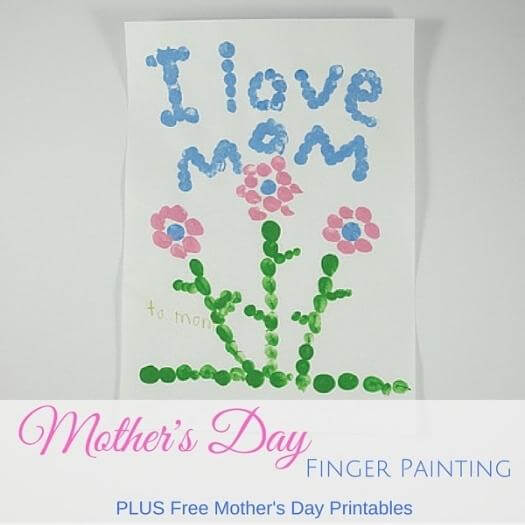 Finger Painting Flowers Easy Last Minute Mothers Day DIY Homemade Crafting Gift Ideas Inspiration How To Make Tutorials Recipes Gifts To Make