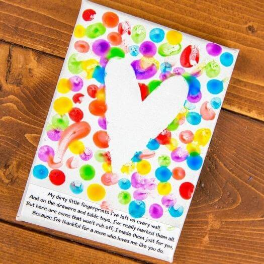 Fingerprint Art Kids Mothers Day DIY Homemade Crafting Gift Ideas Inspiration How To Make Tutorials Recipes Gifts To Make