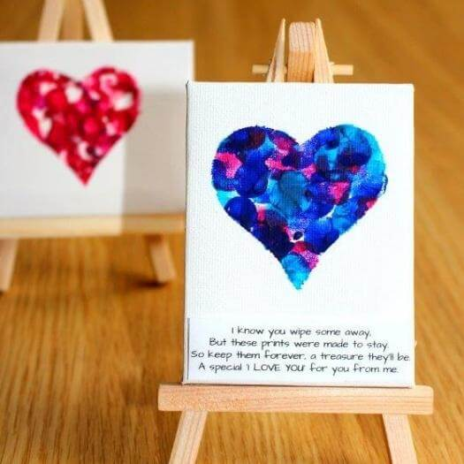 Fingerprint Keepsake for Toddlers Easy Last Minute Mothers Day DIY Homemade Crafting Gift Ideas Inspiration How To Make Tutorials Recipes Gifts To Make