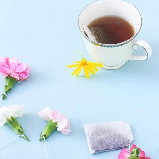 Floral Tea Bags Easy Last Minute Mothers Day DIY Homemade Crafting Gift Ideas Inspiration How To Make Tutorials Recipes Gifts To Make