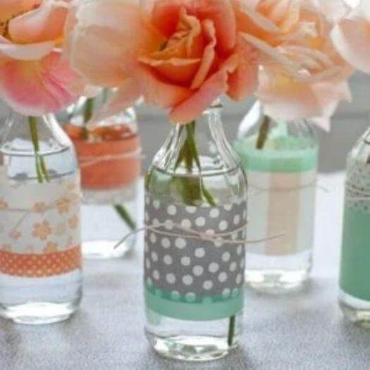 Flower Bottle Vase Best Friend Mothers Day DIY Homemade Crafting Gift Ideas Inspiration How To Make Tutorials Recipes Gifts To Make