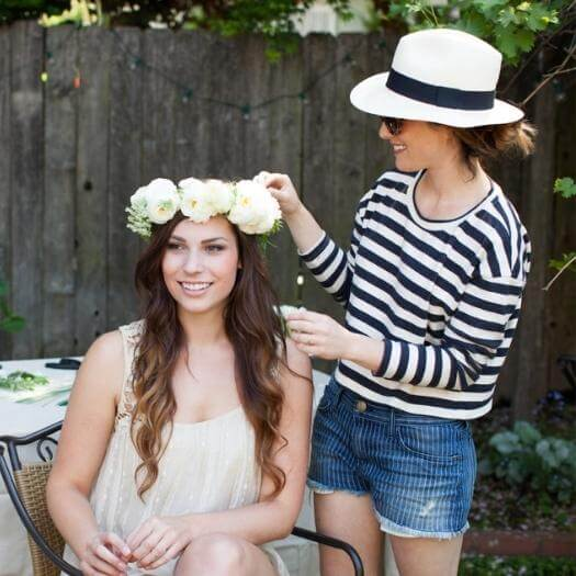 Flower Crowns Best Mothers Day DIY Homemade Crafting Gift Ideas Inspiration How To Make Tutorials Recipes Gifts To Make