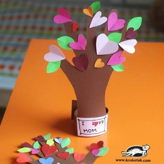 Flowering Tree Kids Mothers Day DIY Homemade Crafting Gift Ideas Inspiration How To Make Tutorials Recipes Gifts To Make
