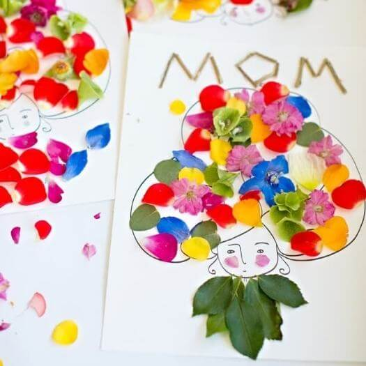 Flowers Art Kids Mothers Day DIY Homemade Crafting Gift Ideas Inspiration How To Make Tutorials Recipes Gifts To Make