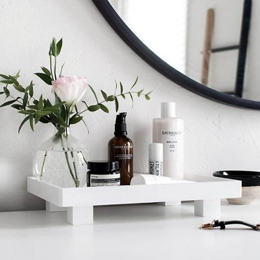 Footed Vanity Tray Best Mothers Day DIY Homemade Crafting Gift Ideas Inspiration How To Make Tutorials Recipes Gifts To Make