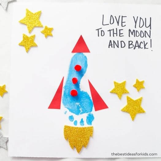 Footprint Rocket Kids Mothers Day DIY Homemade Crafting Gift Ideas Inspiration How To Make Tutorials Recipes Gifts To Make