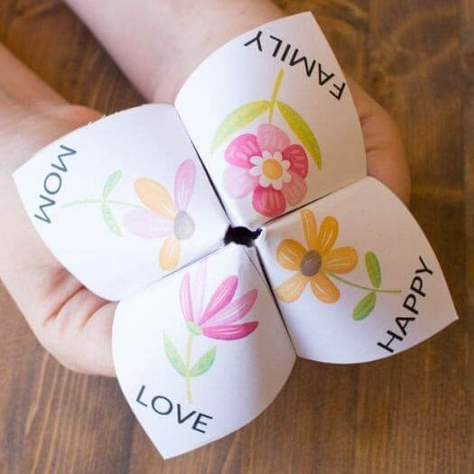 Fortune Teller Kids Mothers Day DIY Homemade Crafting Gift Ideas Inspiration How To Make Tutorials Recipes Gifts To Make