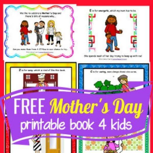 Free Mother's Day Book Cheap Affordable Mothers Day DIY Homemade Crafting Gift Ideas Inspiration How To Make Tutorials Recipes Gifts To Make