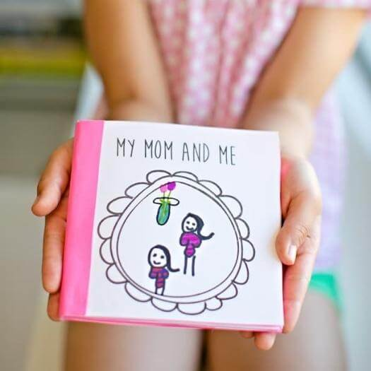 Free Printable Kids-Made Book Easy Last Minute Mothers Day DIY Homemade Crafting Gift Ideas Inspiration How To Make Tutorials Recipes Gifts To Make