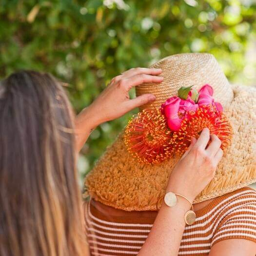 Fresh Flower Hat Unique Mothers Day DIY Homemade Crafting Gift Ideas Inspiration How To Make Tutorials Recipes Gifts To Make