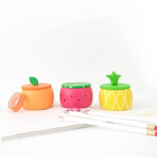 Fruity Wooden Trinket Boxes Unique Mothers Day DIY Homemade Crafting Gift Ideas Inspiration How To Make Tutorials Recipes Gifts To Make