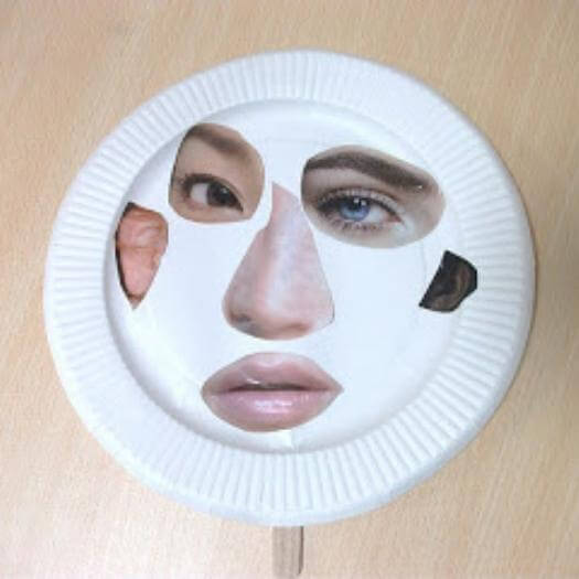 Funny Face Cut Out Funny Mothers Day DIY Homemade Crafting Gift Ideas Inspiration How To Make Tutorials Recipes Gifts To Make