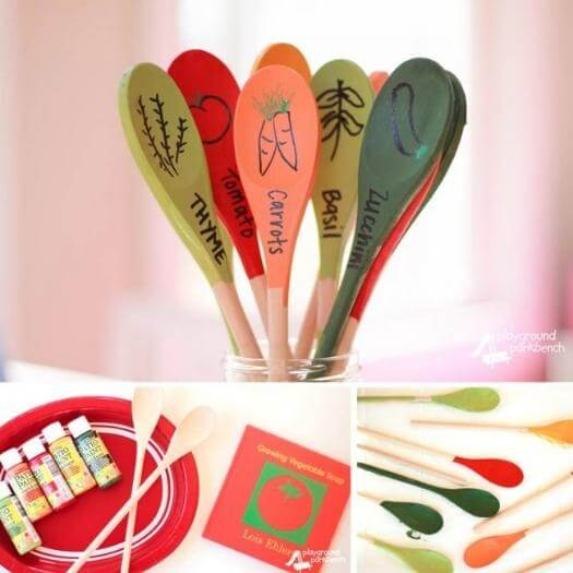 Garden Markers Easy Last Minute Mothers Day DIY Homemade Crafting Gift Ideas Inspiration How To Make Tutorials Recipes Gifts To Make