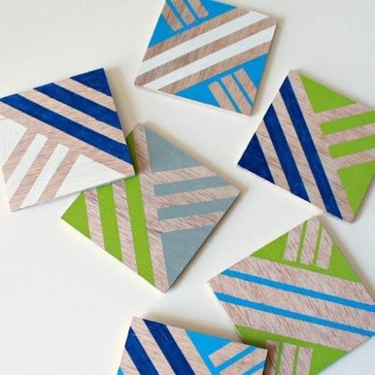 Geometric Coasters Best Friend Mothers Day DIY Homemade Crafting Gift Ideas Inspiration How To Make Tutorials Recipes Gifts To Make