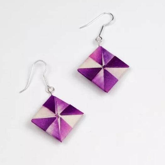 Geometric Origami Earrings Sister Mothers Day DIY Homemade Crafting Gift Ideas Inspiration How To Make Tutorials Recipes Gifts To Make