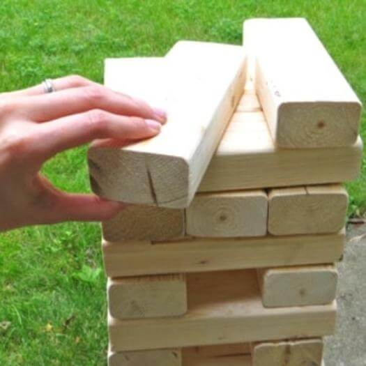Giant Jenga Sister Mothers Day DIY Homemade Crafting Gift Ideas Inspiration How To Make Tutorials Recipes Gifts To Make