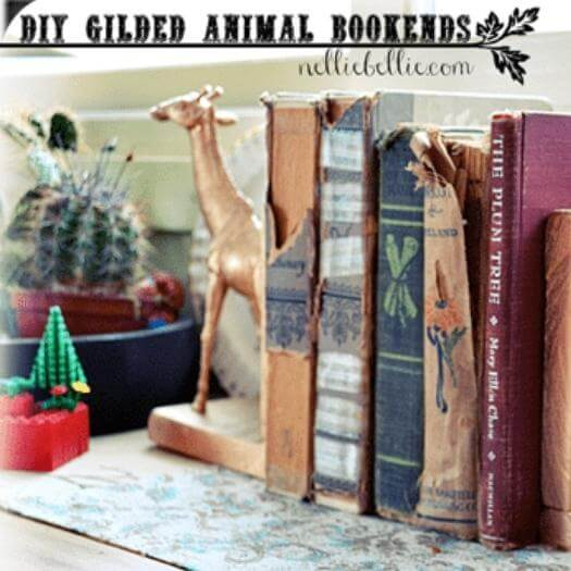 Gilded Animal Bookend Personalized Mothers Day DIY Homemade Crafting Gift Ideas Inspiration How To Make Tutorials Recipes Gifts To Make