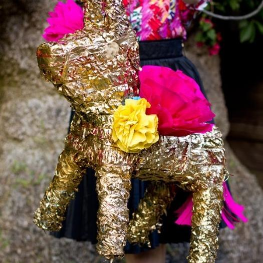 Gilded Piñata Mexican Mothers Day DIY Homemade Crafting Gift Ideas Inspiration How To Make Tutorials Recipes Gifts To Make
