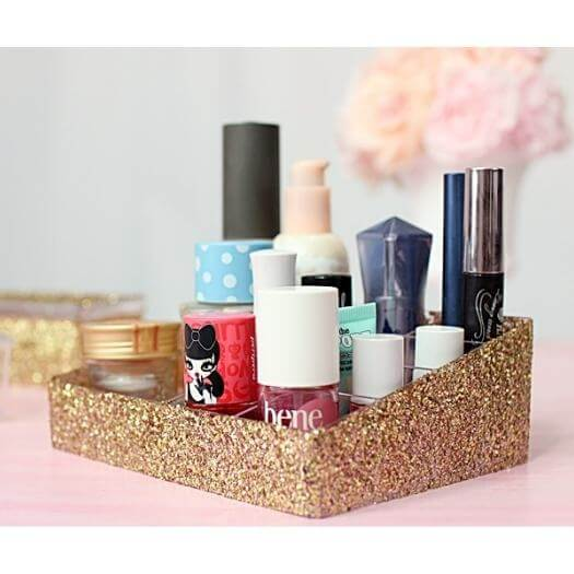 Glitter Decoupage Tray Kids Mothers Day DIY Homemade Crafting Gift Ideas Inspiration How To Make Tutorials Recipes Gifts To Make
