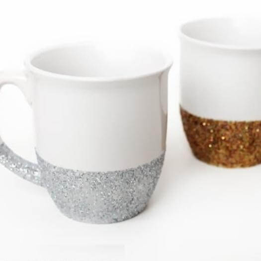 Glitter Mugs Sister Mothers Day DIY Homemade Crafting Gift Ideas Inspiration How To Make Tutorials Recipes Gifts To Make