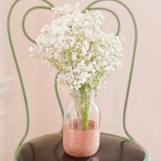 Glitter Vase Grandma Mothers Day DIY Homemade Crafting Gift Ideas Inspiration How To Make Tutorials Recipes Gifts To Make