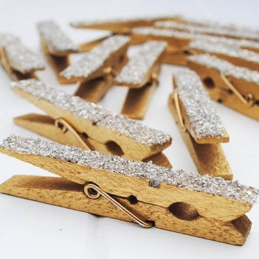 Glittered Clothespins Best Friend Mothers Day DIY Homemade Crafting Gift Ideas Inspiration How To Make Tutorials Recipes Gifts To Make