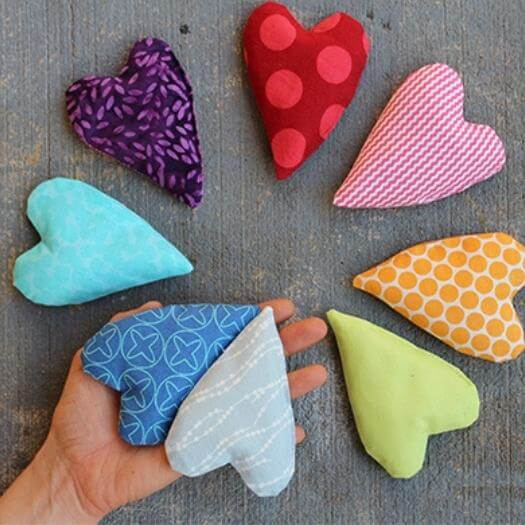 Heart Shaped Hand Warmers Personalized Mothers Day DIY Homemade Crafting Gift Ideas Inspiration How To Make Tutorials Recipes Gifts To Make