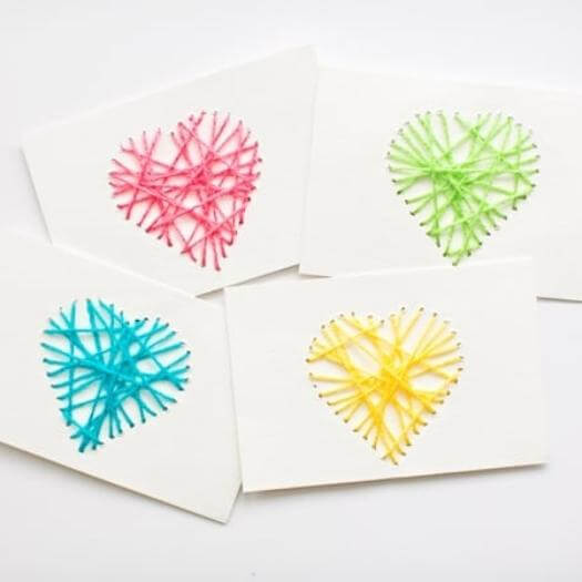 Heartstring Card Easy Last Minute Mothers Day DIY Homemade Crafting Gift Ideas Inspiration How To Make Tutorials Recipes Gifts To Make