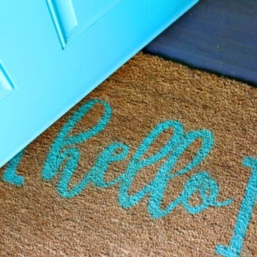 Hello Door Mat Best Mothers Day DIY Homemade Crafting Gift Ideas Inspiration How To Make Tutorials Recipes Gifts To Make