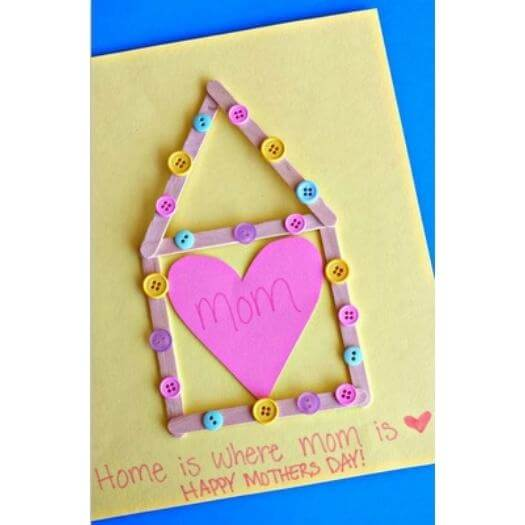 Home Is Where Mom Is Kids Mothers Day DIY Homemade Crafting Gift Ideas Inspiration How To Make Tutorials Recipes Gifts To Make