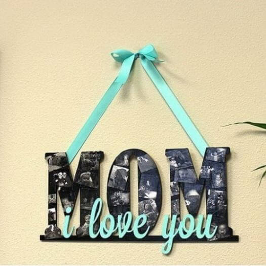 I Love You Mom Sign Personalized Mothers Day DIY Homemade Crafting Gift Ideas Inspiration How To Make Tutorials Recipes Gifts To Make