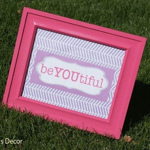 Inspirational Sign Easy Last Minute Mothers Day DIY Homemade Crafting Gift Ideas Inspiration How To Make Tutorials Recipes Gifts To Make