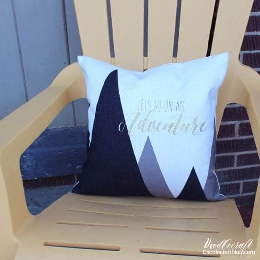 Iron On Pillow Personalized Mothers Day DIY Homemade Crafting Gift Ideas Inspiration How To Make Tutorials Recipes Gifts To Make