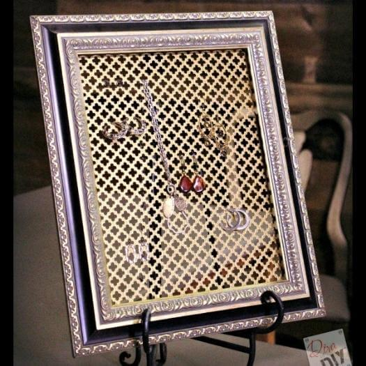Jewelry Organizer Unique Mothers Day DIY Homemade Crafting Gift Ideas Inspiration How To Make Tutorials Recipes Gifts To Make