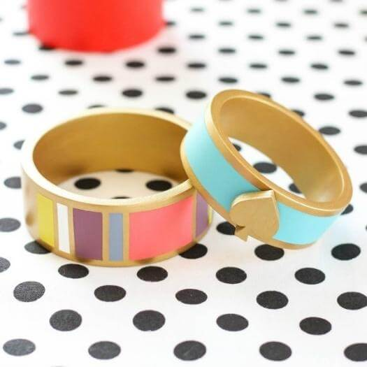 Kate Spade Inspired Bangles Best Mothers Day DIY Homemade Crafting Gift Ideas Inspiration How To Make Tutorials Recipes Gifts To Make