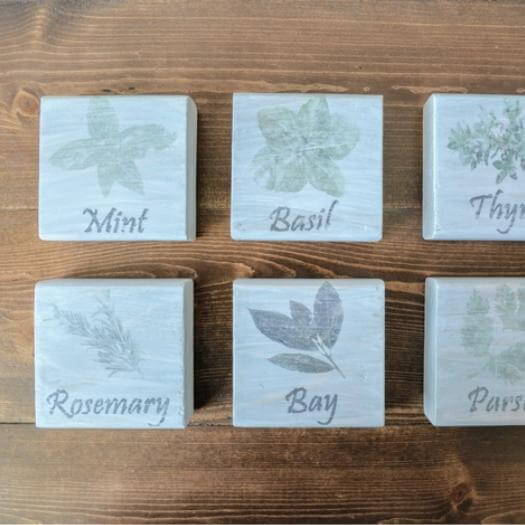 Kitchen Herb Signs Cheap Affordable Mothers Day DIY Homemade Crafting Gift Ideas Inspiration How To Make Tutorials Recipes Gifts To Make