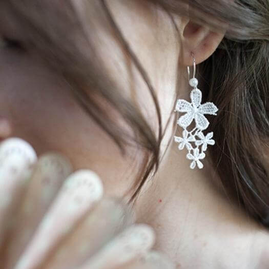 Lace Earrings Best Mothers Day DIY Homemade Crafting Gift Ideas Inspiration How To Make Tutorials Recipes Gifts To Make