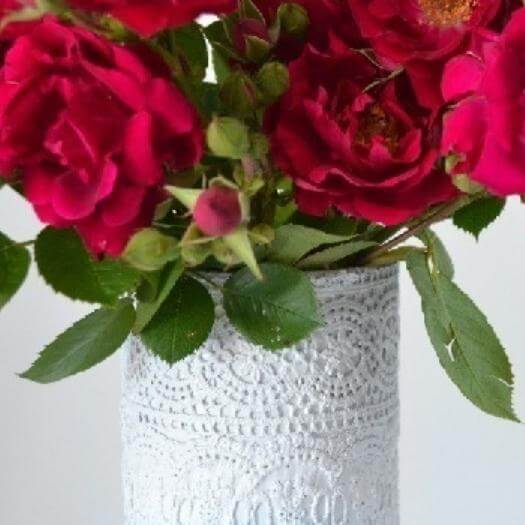 Lace Vases Best Friend Mothers Day DIY Homemade Crafting Gift Ideas Inspiration How To Make Tutorials Recipes Gifts To Make