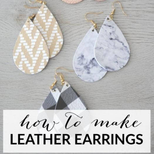 Leather Diffuser Earrings Cheap Affordable Mothers Day DIY Homemade Crafting Gift Ideas Inspiration How To Make Tutorials Recipes Gifts To Make
