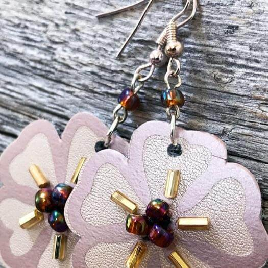 Leather and Iron Earrings Personalized Mothers Day DIY Homemade Crafting Gift Ideas Inspiration How To Make Tutorials Recipes Gifts To Make
