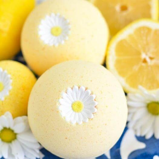 Lemon Bath Bomb Best Mothers Day DIY Homemade Crafting Gift Ideas Inspiration How To Make Tutorials Recipes Gifts To Make